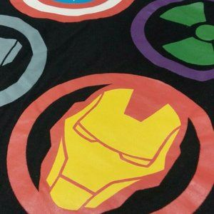 T-Shirt MARVEL Logos (Black Size L)